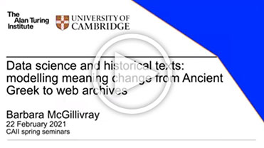 Data Science and Historical Texts: Modeling Meaning Change from Ancient Greek to Web Archives